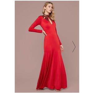 🎉PRICE FIRM🎉Bebe embellished neck gown